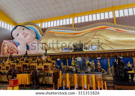 Thai Buddhist Temple in Penang Malaysia - stock photo