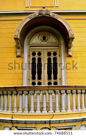 thai classic window-3 - stock photo