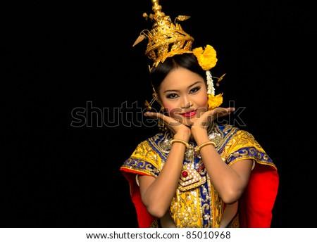 Thai Classical Dance - stock photo