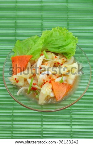 Thai cuisine Fried Sweet Hand made ??from chicken feet. - stock photo