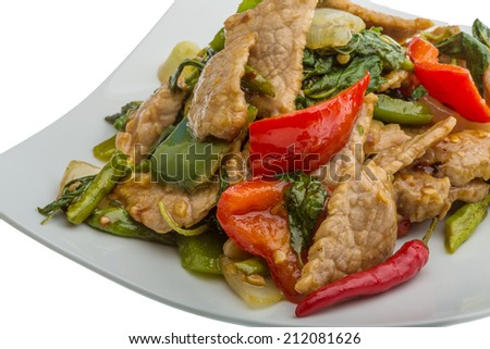 Thai cuisine - Pork with vegetables