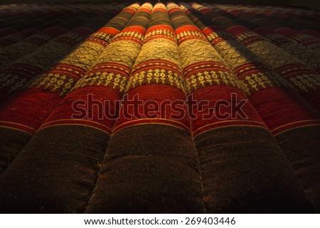 Thai cushion for sleep - stock photo
