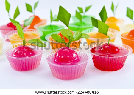 thai dessert made from stirred bean mixed with sugar and coconut in jelly-like - stock photo