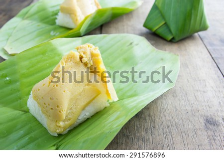 Banana Leaf Wrapped Rice Wrapped in Banana Leaf