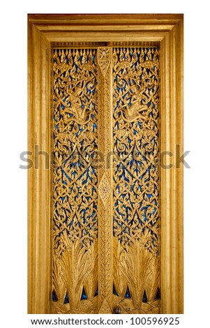 Thai Door  sc 1 st  Shutterstock & Thai Door Stock Photo 100596925 - Shutterstock