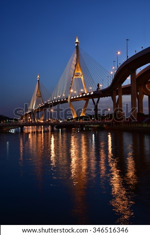 Thai elevated expressway - stock photo