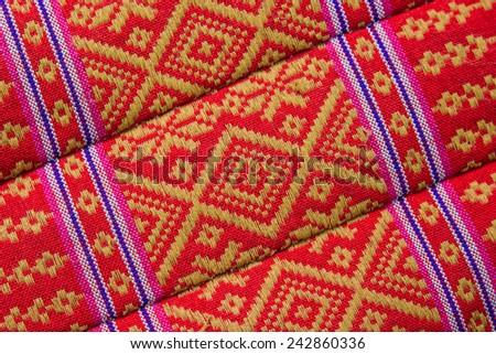 thai fabric texture - stock photo