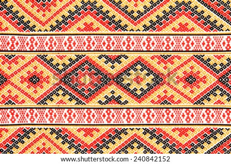 Thai fabrics patterns. - stock photo