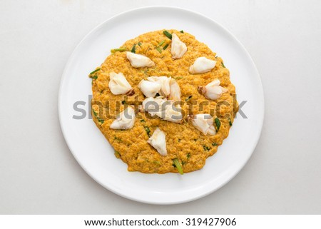 Thai food,Close up Fried crab in curry - stock photo