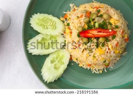 Thai food fire rice  - stock photo