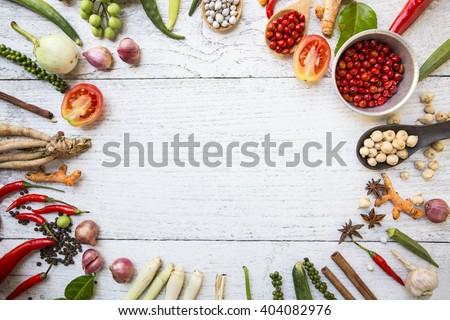 Thai food ingredients - stock photo