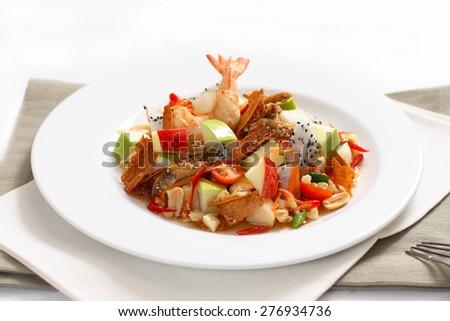 THAI FRUIT SPICY SALAD - stock photo