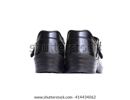 Thai girl student shoes isolated on white background