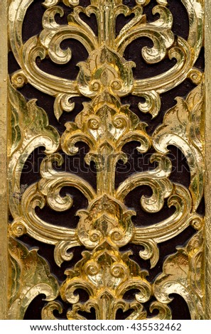 Thai golden stucco pattern