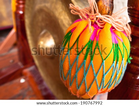 Thai Gong with Colorful Mallet - stock photo