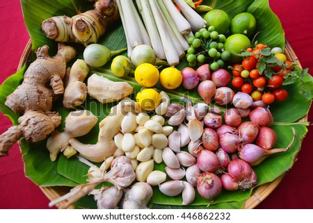 Thai herb ingredient of nutritious snack - stock photo