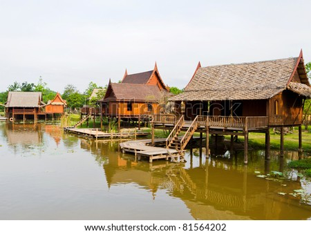 thai home - stock photo
