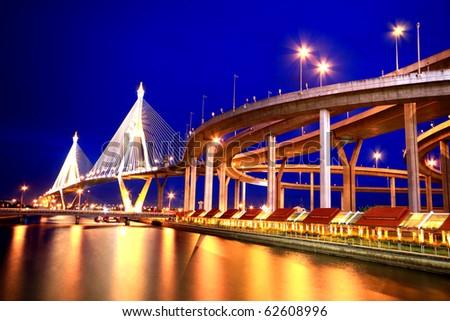 Thai Industrial ring bridge - stock photo