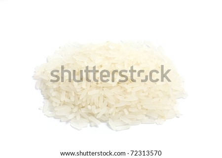 Thai Jusmin rice isolated in white background - stock photo