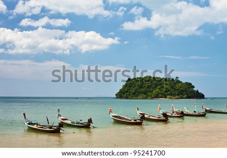 Thai Long Boats - stock photo