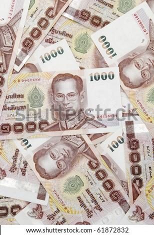 Thai money background - stock photo