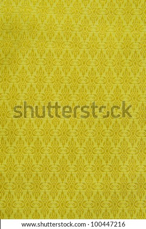 Thai pattern with gold Fabric - stock photo