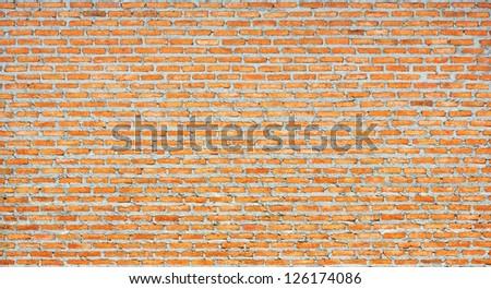 Thai Red brick wall background - stock photo