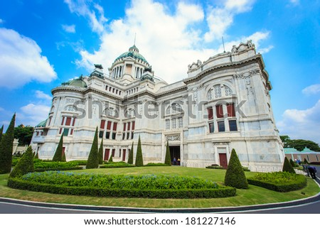 Thai Royal  palace, Dusit Palace in Bangkok, Thailand - stock photo