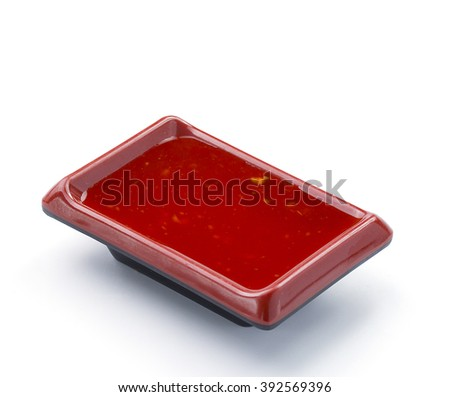 Thai sauce isolated on white background - stock photo