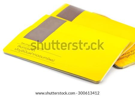 Thai Saving Account Passbook on white background - stock photo