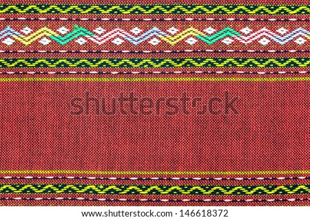 Thai silk fabric pattern for background