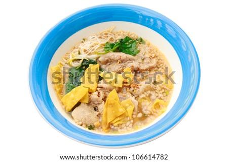 Thai spicy pork noodle - stock photo