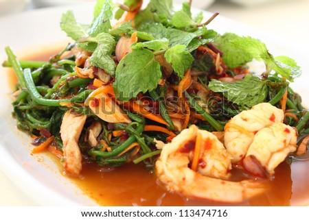Thai Spicy Salad - stock photo