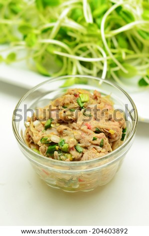 Thai spicy sauce form jack fruit - stock photo
