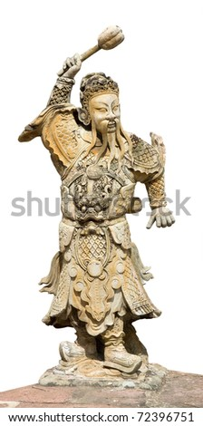 thai statue sculpture isolated on white