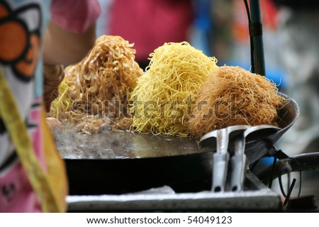 Thai street food - stock photo