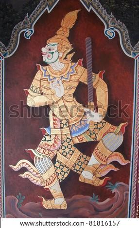 Thai style Art - Thailand Bangkok - stock photo
