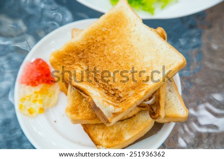 Thai style breakfast with  egg in the morning - stock photo