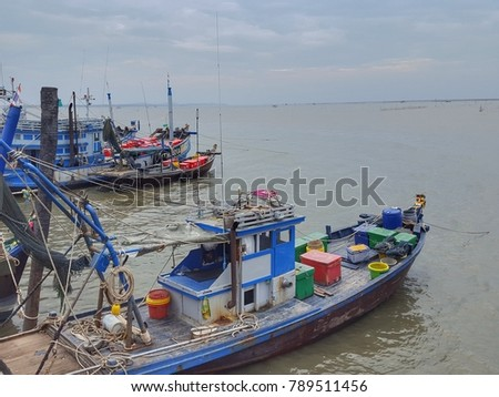 Thai style fishery boat, use by local fisherman for fishing and for not long distance transport.
