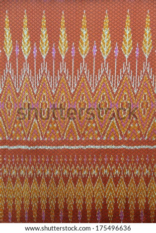 Thai style native cloths