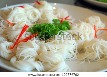 Thai style noodle eaten with curry - stock photo