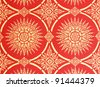 Thai style painting art On red background - stock photo