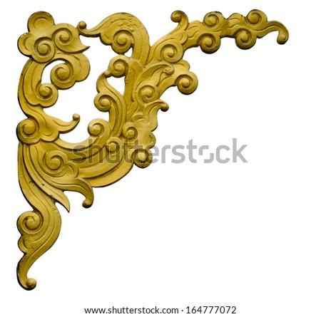 Thai style pattern decorative isolated on white background - stock photo