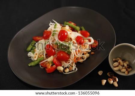 Thai style Salad.(Som Tam) - stock photo