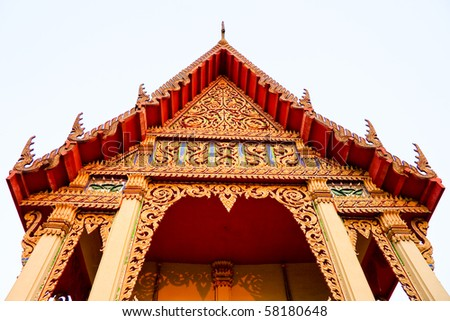 Thai Temple, Udon Thani,North-East of Thailand - stock photo