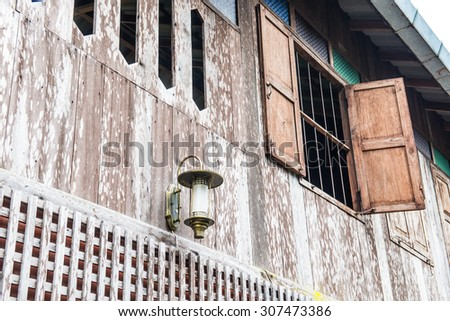 Thai traditional house in Thai country, Thailand. - stock photo
