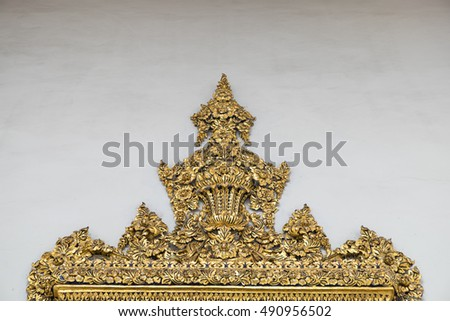 Thai traditional pattern in temple
