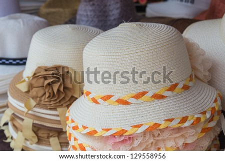 Thai vintage hat - stock photo