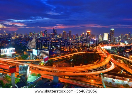 thailand,aerial, downtown, street, travel, view