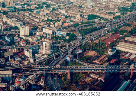 THAILAND. BANGKOK - MARCH 31/2016: View of the central streets Bangkok. March 31, 2016